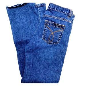 Calvin Klein Low Rise Boot Cut Jeans Size 4